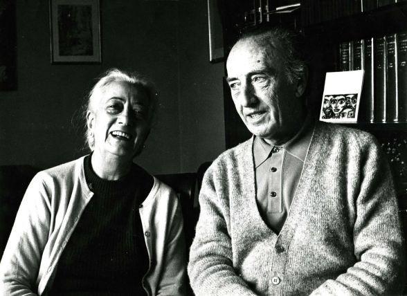 Anna Murià y A. Bartra (1973).  Fotografía hecha por Toni Vidal
